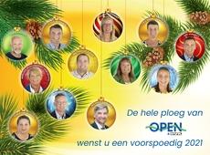 De hele ploeg van Open & N-VA wenst u een voorspoedig 2021